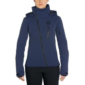 Hooded Ski Jacket Insulated Water Resistant Blue